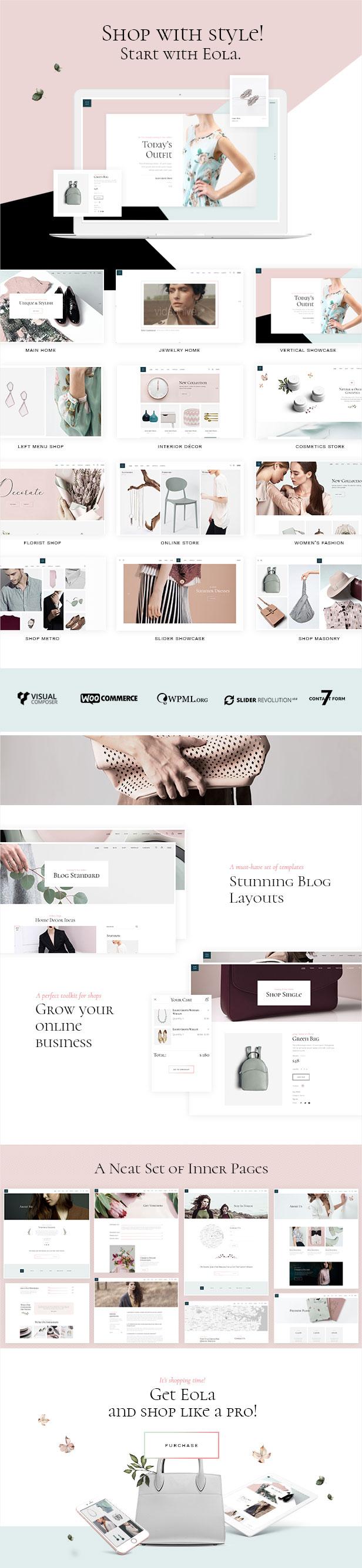 WordPress theme Eola - An Elegant, Multipurpose WooCommerce Theme (WooCommerce)